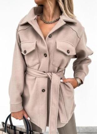 Пальто рубашка кашемир 👍тренд сезона👍