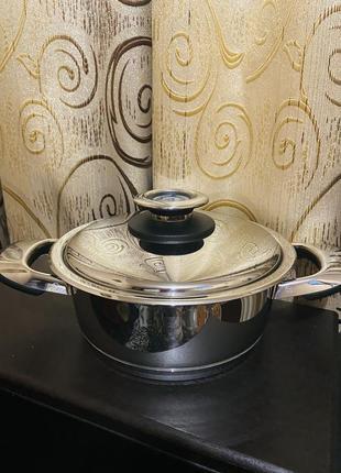 Кастрюля сотейник с крышкой bauer 2,5 л крышка 20 см
