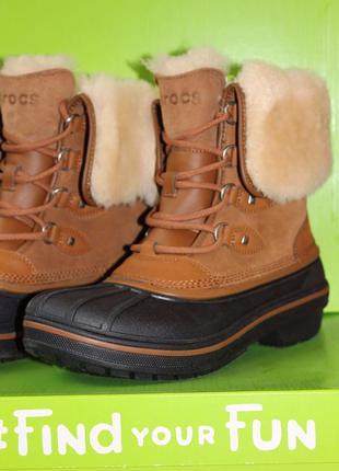 Продам сапоги crocs allcast boot крокс женские зимние ботинки новые