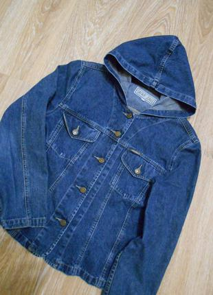 #крутая оригинальная джинсовая куртка с капюшоном#gafair&jeans#джинсовый пиджак.жакет#