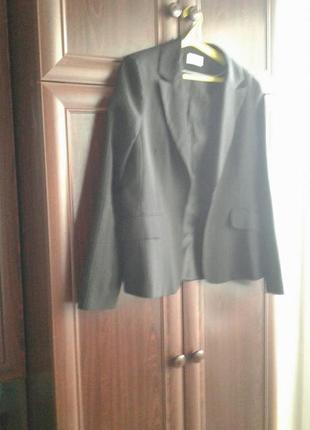 Пиджак жакет маскулинный классический в полоску темно синий аtmosphere .батал .