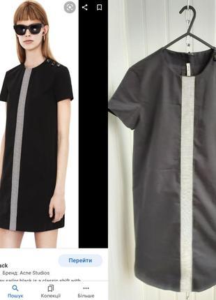 Платье мини чёрное acne studios 38
