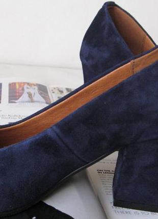 ... Nona! женские качественные классические туфли синего цвета взуття на каблуке  7 a61ed6e32d5f2