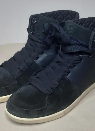 Ботинки высокие кеды lacoste