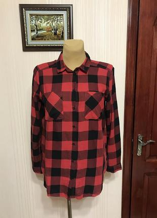 Стильная яркая рубашка от h&m