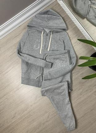 Gap гап женский костюм серый оригинал спортивный спорт тёплый штаны кофта