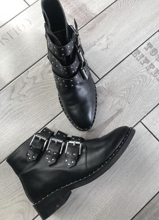 Ботинки кожаные asos
