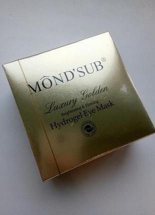 Гидрогелевые патчи для глаз с частицами золота mond'sub luxury golden