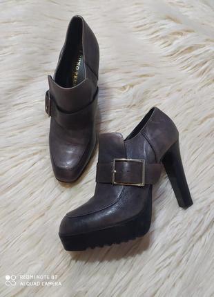 Красивенные кожаные!!! туфли оксфорды от bruno premi италия