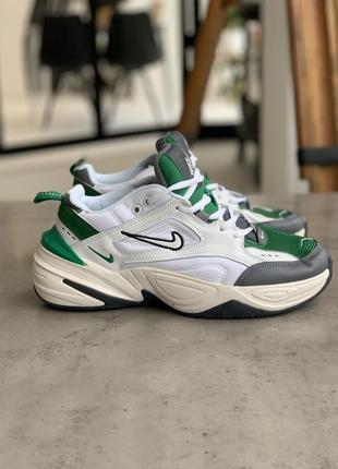 Кроссовки мужские nike m2k tekno (белые, серые, зелёные)