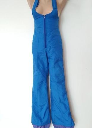 Лыжные штаны комбез голубой синий лижні штани комбенізон брюки для сноуборда