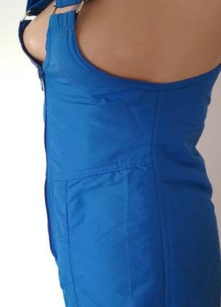 Лыжные штаны комбез голубой синий лижні штани комбенізон брюки для сноуборда3 фото