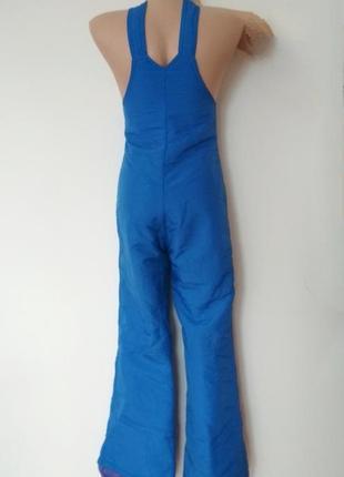 Лыжные штаны комбез голубой синий лижні штани комбенізон брюки для сноуборда5 фото