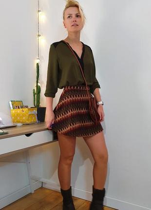 Mango готовый лук юбка блузка сумка женская