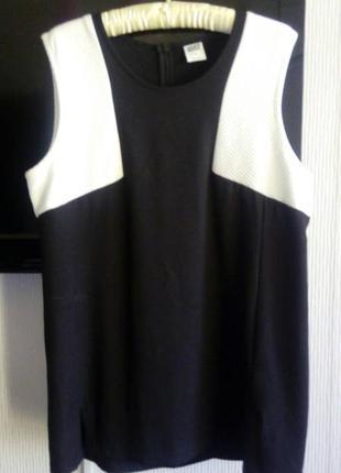 Блуза туника трикотаж с фактурным принтом