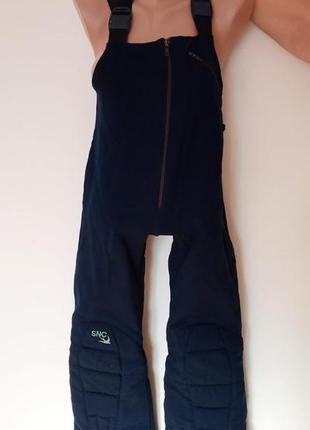 Snc штаны брюки лыжные лыж флис теплые сноуборд лижні штани синие