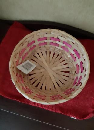 Пасхальная плетеная корзинка диаметр 23см, высота 7.5см