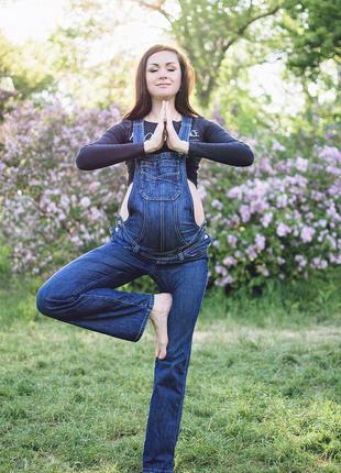 Комбинезон джинсовый для беременных 44-48 (m-xl)
