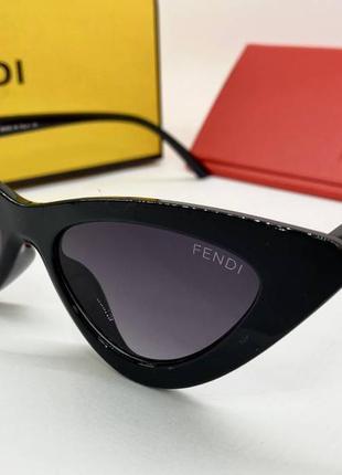 Fendi изысканные женские солнцезащитные очки черные, очки женские fendi