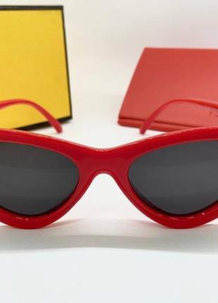 Fendi изысканные женские солнцезащитные очки красные, очки женские fendi