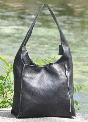Кожаная сумка хобо севилья