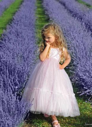 Детское нарядное платье розового цвета мия