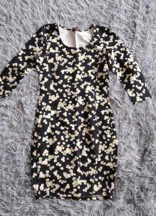 Короткие платья мини весенне платье цветочный принт
