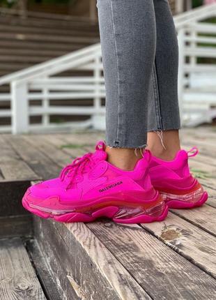 Женские кроссовки triple s clear sole от известного дома моды