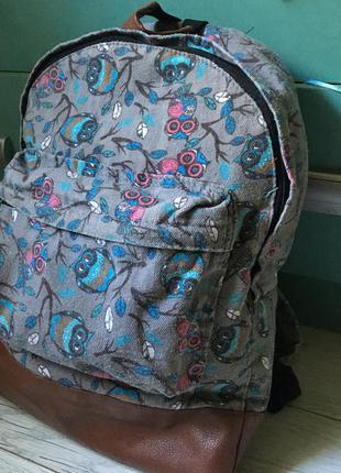 Рюкзак портфель серый