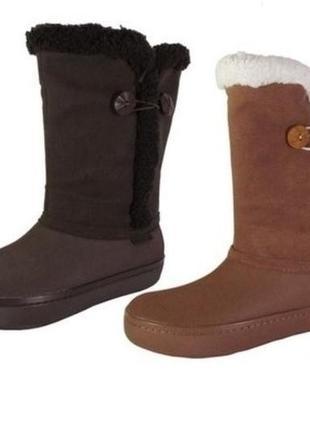 Женские сапоги crocs modessa button boots, 100% оригинал