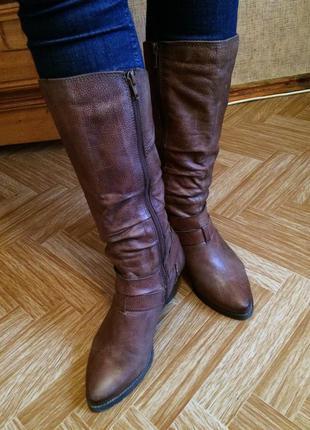 Крутые кожаные сапоги, сапожки alberto venturini