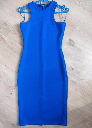 Синий сарафан missguided 36 размер