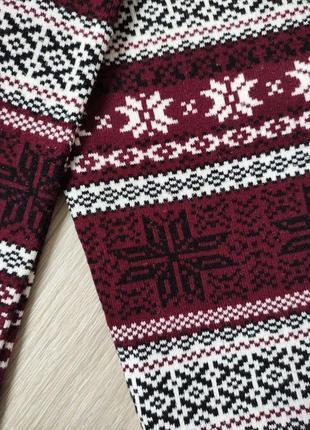 Теплые леггинсы женские бордовые леггинсы в принт домашние леггинсы3 фото