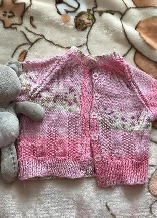 Вязаный свитер кофта