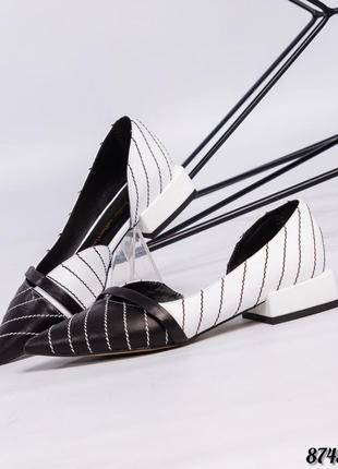 Туфли лодочки кожа