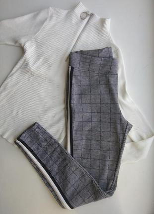 Леггинсы лосины штаны брюки гусиная лапка