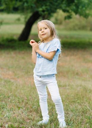 Белые джинсы vigoss на девочку 4 года хлопок