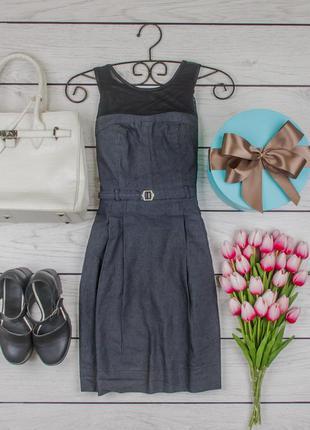Платье котоновое серое от qed london размер uk 10 наш р. 44