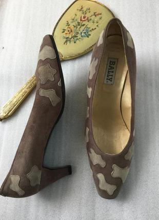 Туфли кожаные bally , замшевые