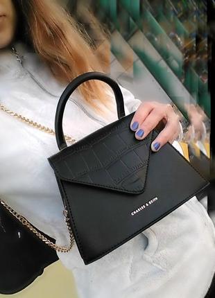 Черная сумка-клатч. мини мода1 фото