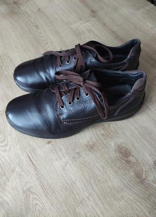 Мужские итальянские кожаные демисезонные туфли shock absorberр.43
