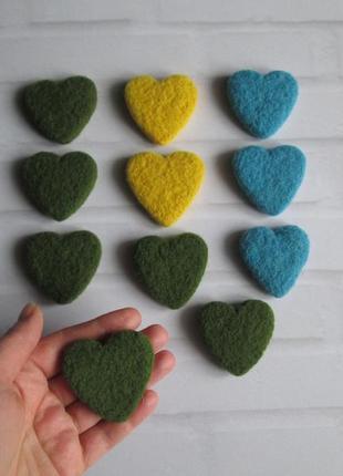 Распродажа! сердечка из шерсти. валяные сердечка. сердце. подарок. декор.