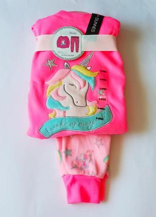 Мягусенькая флисовая пижамка от dunnes, англия. размеры 7-8,8-9,9-10,11-12,13-14 лет
