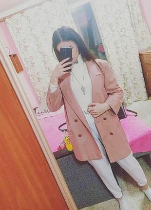 Пиджак, дуже стильний,пудровий, оверсайз4 фото