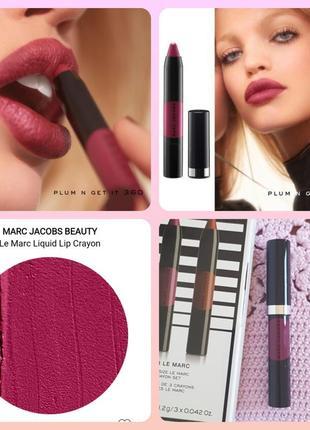 🌞sale🌞marc jacobs le marc liquid lip crayon помада карандашь для губ
