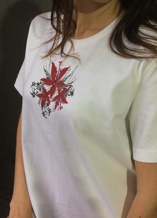 Базовая белая футболка германия на 48- 50 размер