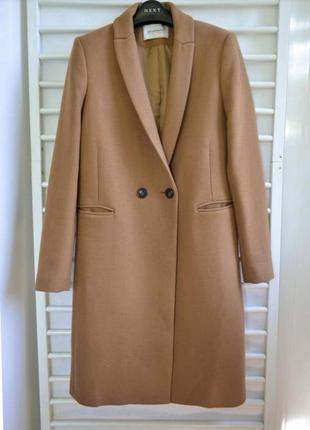 Пальто шерстяное двубортное