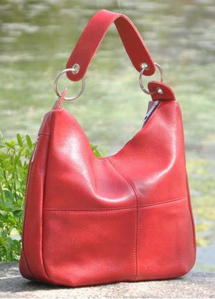 Кожаная сумка хобо неаполь