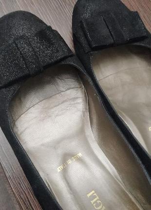 Акция!!! балетки, туфли bruno magli, 38 размер, женские на танкетке