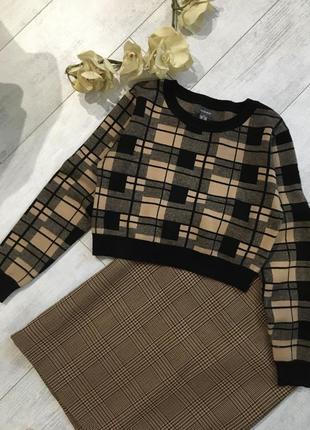 Укороченый свитер кроп топ в стиле zara размер м